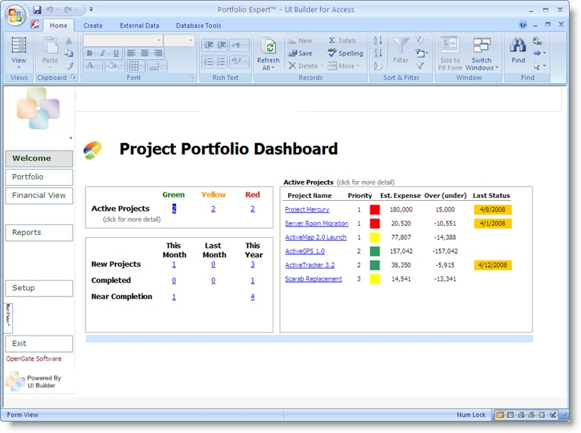 Project Portfolio Dashboard Template And Software Excel  Project