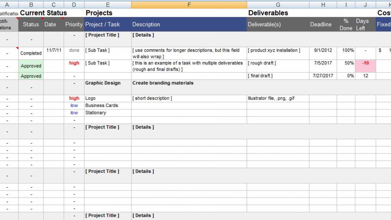 Project Management Tracker Template from www.projectemplates.com