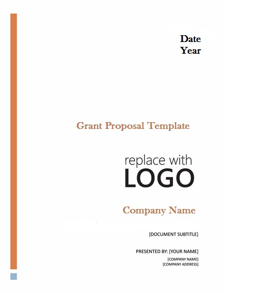 Professional Grant Proposal Template  Project Management