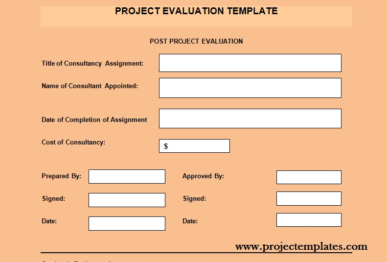 Get Project Evaluation Template  Project Management Templates And