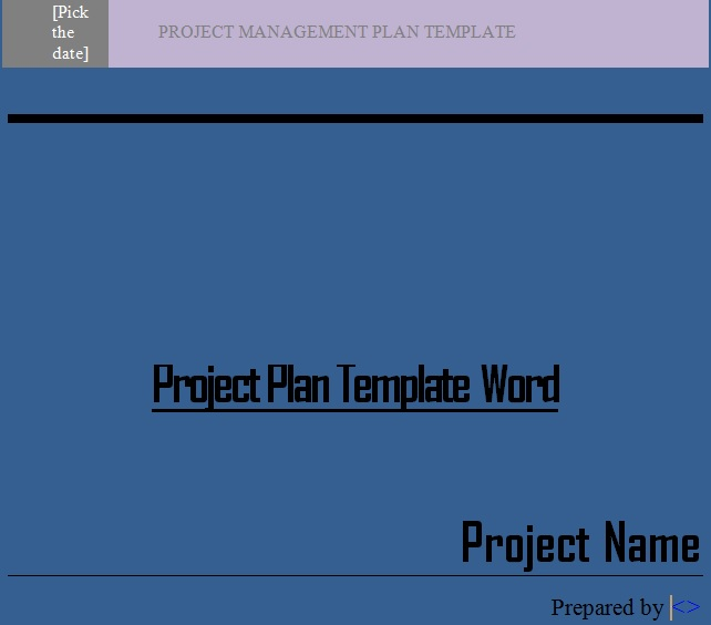 Word Project Schedule