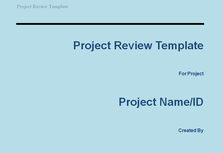 Get Project Review Template | Projectemplates
