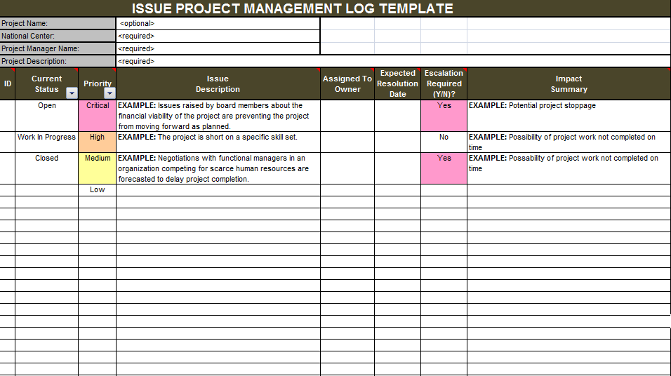 Download issue project management templates projectemplates issue project management templates maxwellsz