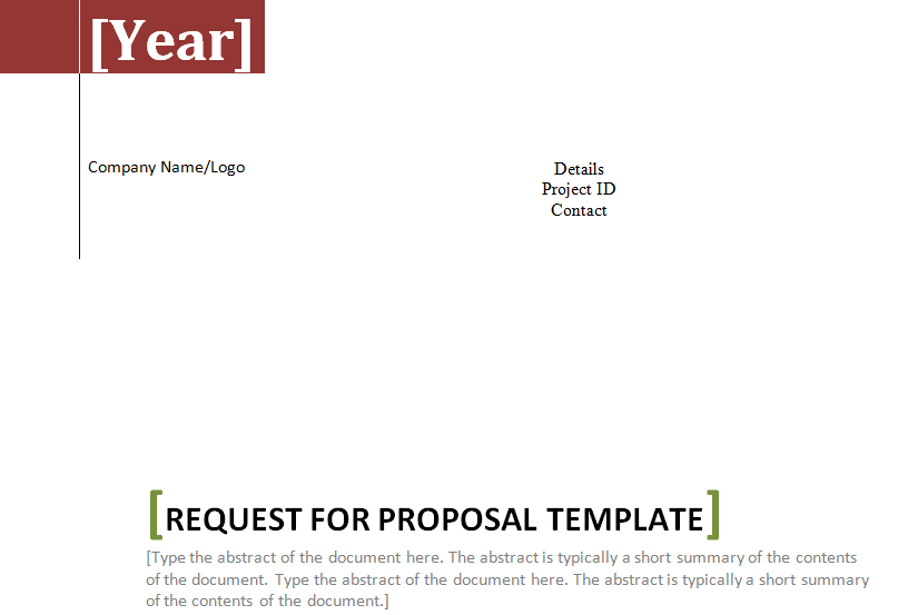 request for proposal template in word