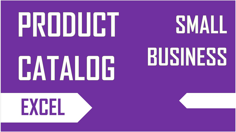 small business product catalog template project