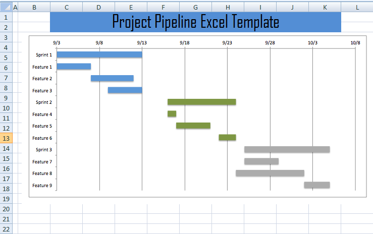 Project Pipeline Tracker Excel Template
