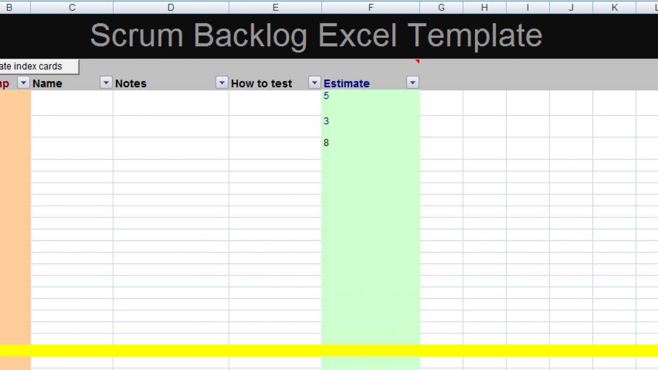 Get Scrum Backlog Excel Template Xls Xlstemplates
