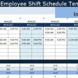 Employee Shift Schedule Template excel