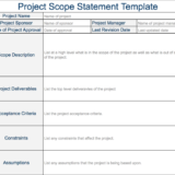 Project Scope Statement Free