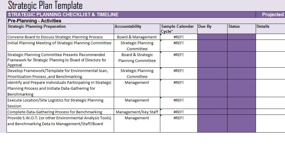 Free Strategic Plan Template