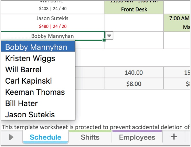 Nurse Daily Schedule Template Excel