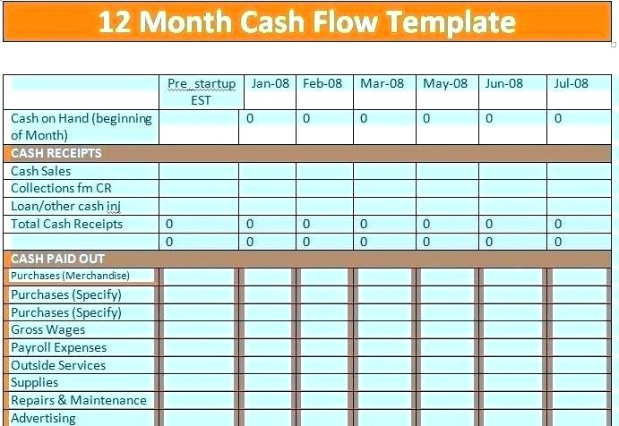 simple cash flow template - free download