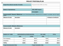 Project Proposal Plan Template in Word