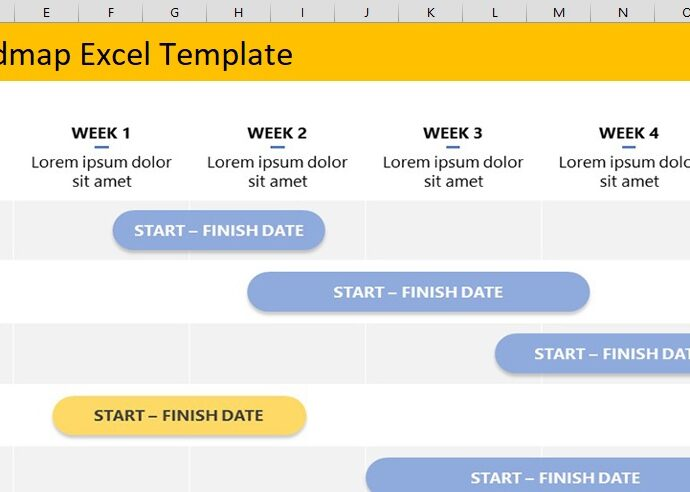 Project Roadmap Excel Template